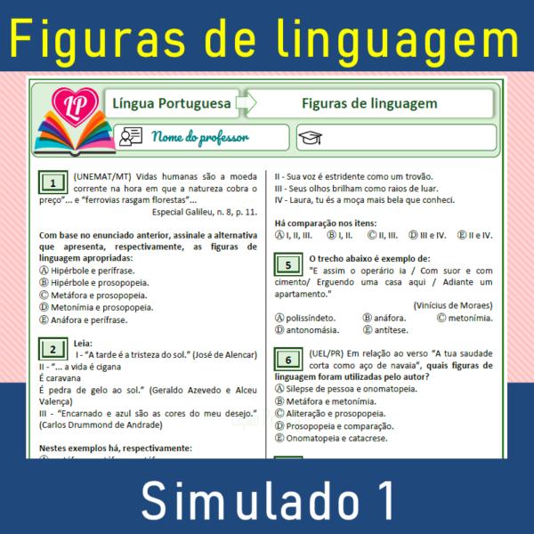 Figuras de linguagem – simulado 1