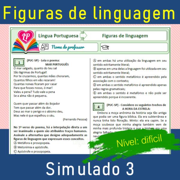 Figuras de linguagem – Simulado 3