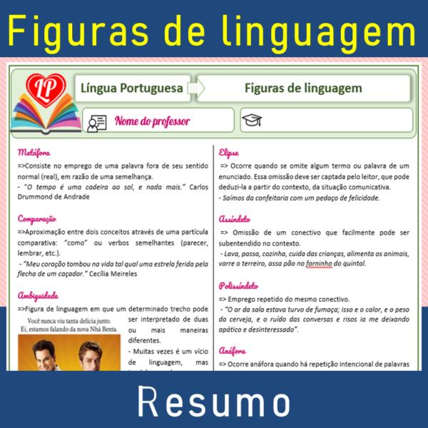 Figuras de linguagem – Resumo