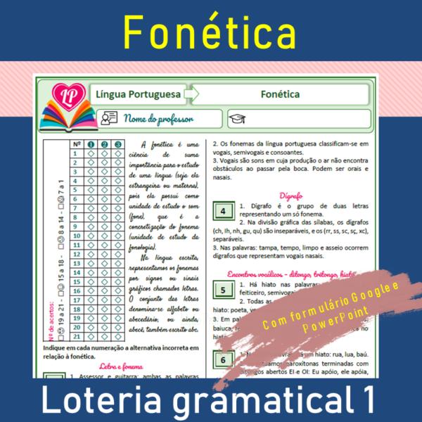Fonética – Loteria gramatical