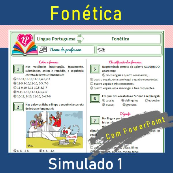 Fonética – simulado1