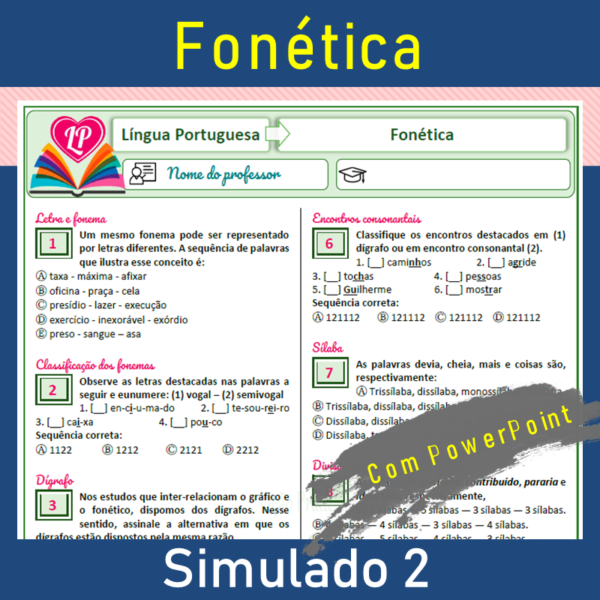 Fonética – simulado 2