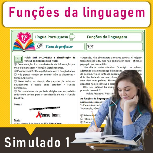 Funções da linguagem – Simulado 1