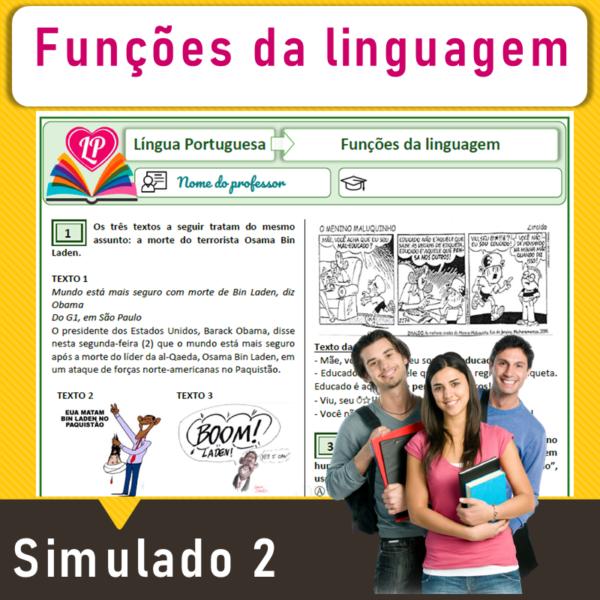 Funções da linguagem – Simulado 2