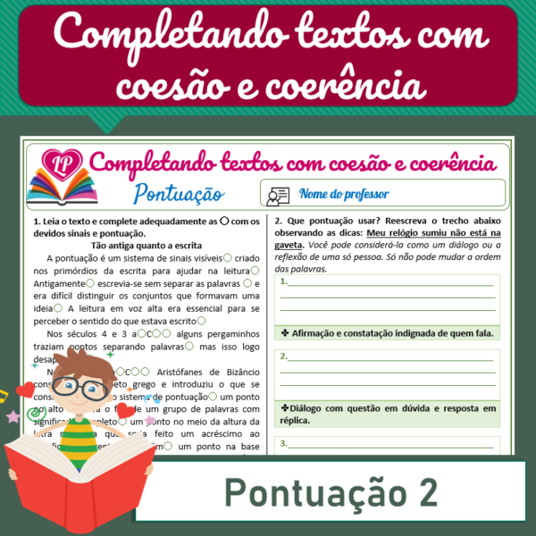 Pontuação 2 – Completando textos com coesão e coerência
