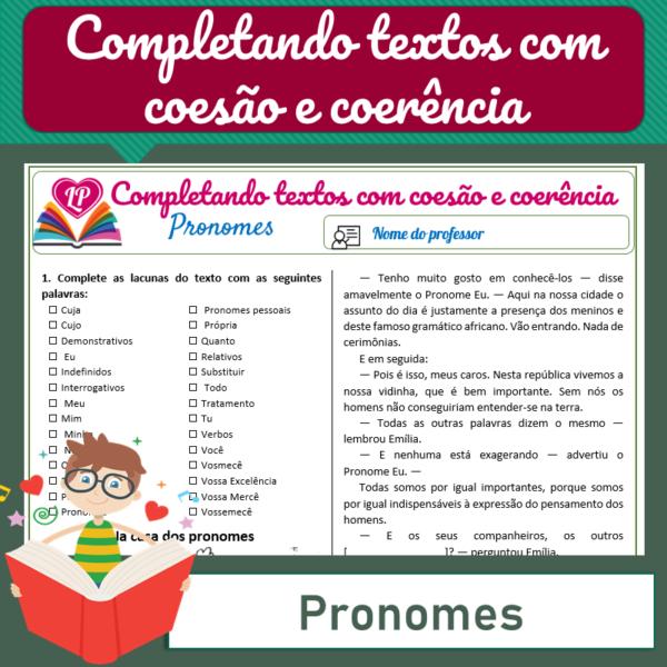 Pronomes – Completando textos com coesão e coerência