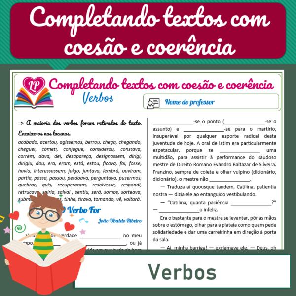 Verbo – Completando textos com coesão e coerência