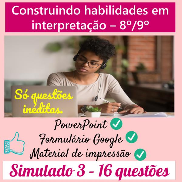 Construindo habilidades em interpretação 8º/9º – 3