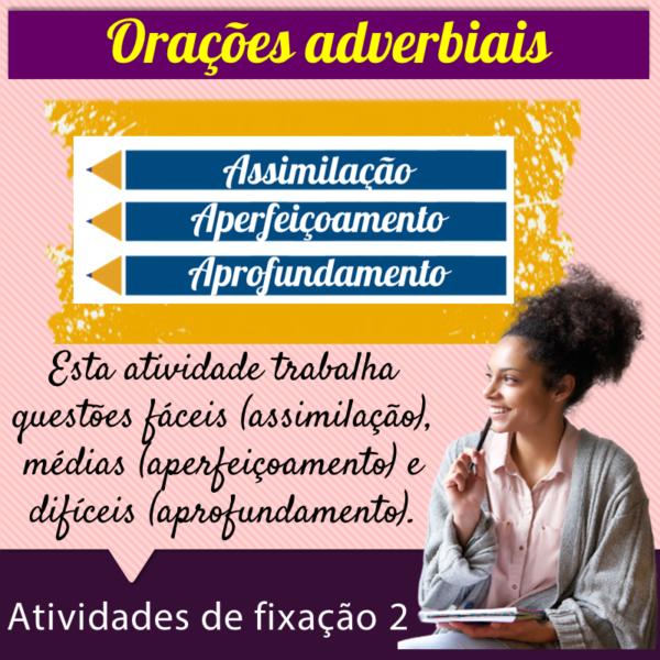 Orações adverbiais – Atividades de fixação 2