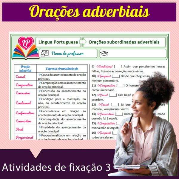 Orações adverbiais – Atividades de fixação 3