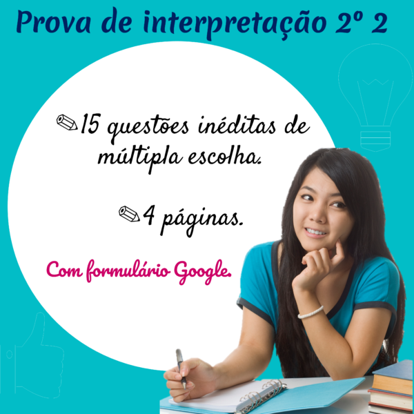 Prova de interpretação 2º ano 2