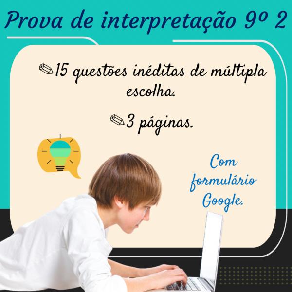 Prova de interpretação – 9º ano 2