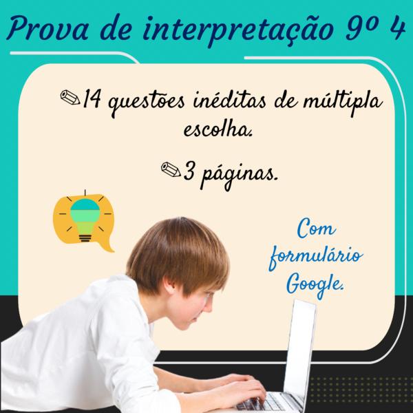Prova de interpretação – 9º ano 4
