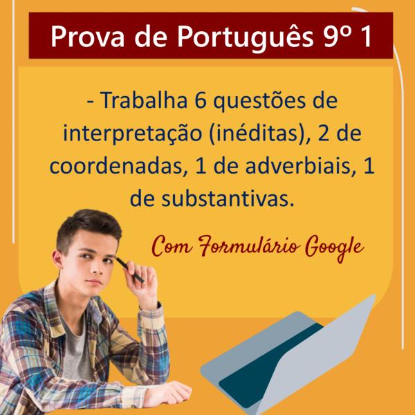 Prova de português – 9º ano 1