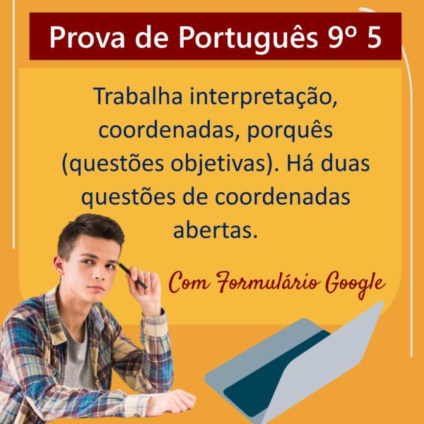 Prova de português – 9º ano 5