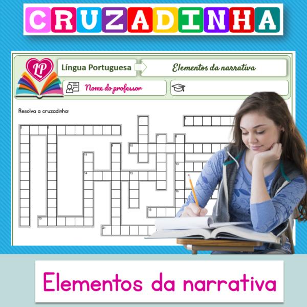 Elementos da narrativa – Cruzadinha